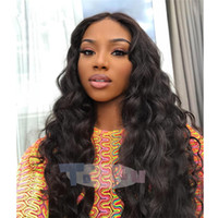 8A Front lace wigs Brazilian virgin hair Loose Wave natural ...
