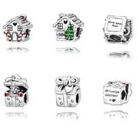 2019 100% 925 di alta qualità Argento Natale Carousel branello di fascino Adatto europee Pandora Jewelry Bracciali Collane Pendenti