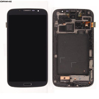 ORIWHIZ LCD Digitizer Touch Screen Replacement Assembléia para Galaxy Mega6.3 i9200 i9205 branco / azul (Com Frame)