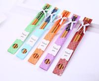 """350 pairs Çin """"Doğu Karşılamak Batı"""" Doğal Bambu Çubuklarını Sofra Düğün Favor Hediye Hediyelik Eşya Ücretsiz Kargo lin4431"""