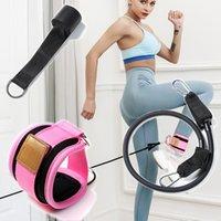 tirador de puerta de la pierna entrenamiento físico banda elástica anillo de tensión ternero cuerda pie de yoga hebilla traje banda elástica