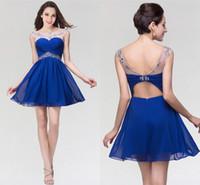 럭셔리 Crysyal 페르시 짧은 homecoming 드레스 저렴한 백리스 미니 칵테일 파티 칵테일 가운 공식 댄스 파티 저녁 CPS094
