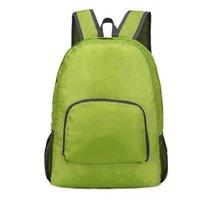 Сумки на открытом воздухе Многофункциональный ультра легкий модный модный складной сумка, повседневная туризм кемпинг водонепроницаемый рюкзак, унисекс складной рюкзак для кожи