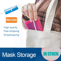 DHL Gemi Taşınabilir yüz maskesi depolama Klip Plastik Mini Katlanabilir Tutucu Konteyner Şeker Renkli Depolama Vaka toz geçirmez 19.2 * 12cm FY8020