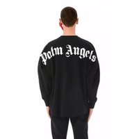 Palm Angels Felpe Uomo Donna Stampa Palm Angels Pullover Hip Hop Palm Angels Moda maschile Felpa con cappuccio Taglia S-2XL