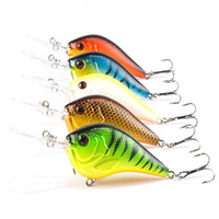 1PCS Señuelo de pesca Crankbait de natación profunda 9.5cm11.4g Cebo duro 5 colores disponibles Tight Wobble Slow Floating Fishing Tackle C20