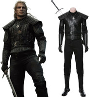 Film The Witcher Cosplay Geralt de Riv Halloween Costume adulte Homme Outfit