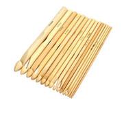 """2019 Nieuwe Collectie 16 Maten Set 6 """"Bamboe Breien Weave Naald Haak Haken Craft Tool 2.0-12.0mm Hot Koop"""
