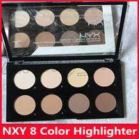 Prix le plus bas Hot NYX Highlight Crème Contour Pro Palette 8 couleurs Beauté pigmenté Ombre surligneur Maquillage Visage Anti-cernes Palettes