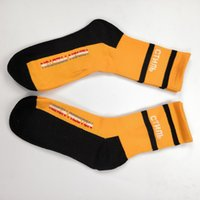 Hot Heron Preston Black White Orange Stripe Long Socks Calzini Moda Hip Hop Winter Autunno Streetwear Calzini