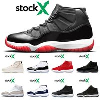 Hot sale 11 11s concord 45 Breed Gamma Blue Space Jama Blue Ja cap and drop Platinum Tint Cold Grey high sport low sneers