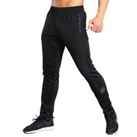 Pantalon masculin d'été hommes respirant taille élastique taille longue course salle de sport exercices de pantalon de survêtement de forme physique