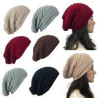 Moda Örgü Şapka Açık Sıcak Kazak Şapka Kızlar Kadınlar Erkekler Sonbahar Kış Beanie Cap Şenlikli Noel Parti Şapkası WX9-1760