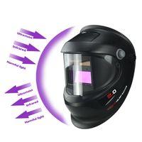 Freeshipping scurimento auto solare elettrico Wlding casco della mascherina saldatore Cap saldatura Lens Occhi maschera per saldatrice e Plasma Cutting Tool