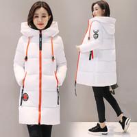 Parka Frau glänzende Winterjacke Frauen Mantel mit Kapuze Outwear Female Parka Thick Cotton Padded Futter Weiblich Grund Puffer Coats