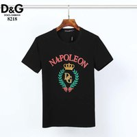 2020 European and American Summer Tops Brand Mens Shirt T Shirts Short Sleeve Hole Shirt Letter Printed Crew Neck Tops Tees Short sleeve A25