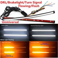 2PCS / 로트 30cm 스위치 백 흐르는 차 DRL LED 나이트 라이더 턴 신호 브레이크 라이트 스트립