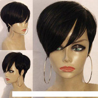 H Pixie Hairstyle Peluca de cabello humano Bob cortes Remy Remy Pelucia corta Pixie corta Pelucas para mujeres negras