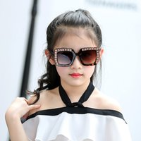 حجر الراين النظارات الشمسية الاطفال ساحة نظارات شمسية الطفل الأطفال النظارات الشمسية بنين بنات Feminino 95AB