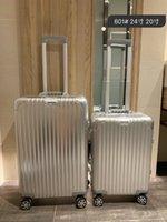 قفل جودة عالية PC مكافحة ارتداء الجمارك TSA المادي سميكة سبائك الألومنيوم حقيبة الزاوية سعة كبيرة حقيبة السفر حالة الهواء 20 بوصة