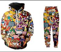 Atacado - Cartoon New Moda Masculina / Womens Totalmente Imprimir 90 de camisola Corredores 3D engraçado Unisex Hoodies + calças ZZ016