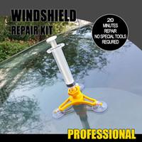 1Set лобовое стекло автомобиля Ремонт Инструменты для автомобилей Окна Ремонт Kit ветровое стекло Repair Tool Set для Crack Авто аксессуары HHA52