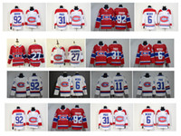몬트리올 Canadiens Jersey 31 캐리 가격 6 Shea Weber 13 Max Domi 15 Jesperi Kotkaniemi 92 Jonathan Drouin 100 클래식 하키 유니폼