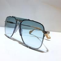 جديد الموضة 0739S تصميم النظارات الشمسية فوق البنفسجية الحمايه عدسة بدون إطار مع معدن 0739 مربع نمط نظارات شمس شعبية حملق أعلى جودة مع حالة