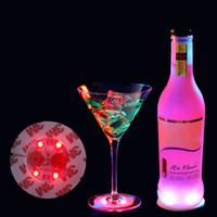 الصمام زجاجة النبيذ أسفل الملصق بار حزب الديكور EVA كأس ضوء ملصقا السفلي 3M الغراء النبيذ ماء زجاجة ملصقا XD22956