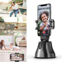 محفظة 5pcs 360 درجة دوران روبوت تتبع الوجه الذكية AI انحراف الشخصية 360 درجة أفقية بطاريات مصور المتابعة لا تشمل