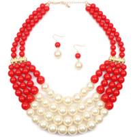 Collier de perles multicouche exagérée de vente chaude européenne et américaine