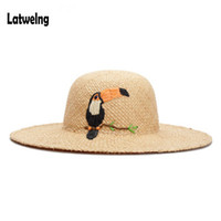 2018 Women Straw Hats Panama Sun Visor Hat New Handmade Raff...