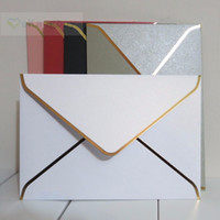 25pcs 194x134mm(7. 5x5. 2inch) Pearl Color Envelope with Gold ...