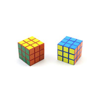 Cubo adesivo liscio puzzle rubik cube 3x3x3cm mini magic cube gioco apprendimento gioco educativo cubo buon regalo giocattoli giocattoli giocattoli per bambini