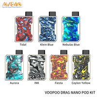 100% Autêntico VOOPOO DRAG Kit Nano Pod Built-in 750mAh Bateria Com 1 ml 1.8ohm Nano Pod VS Voopoo Drag 2