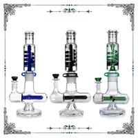 Bobina congelable Tubo en línea Tubo de vidrio BONG Construir un burbujeador Hookahs Fumar Guardería Waterpipes PHX 47