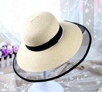 Haute qualité Netlike bord Plage Chapeaux Femmes 20ss élégant large bord chapeaux Anti-UV Soleil Chapeau marée plat circulaire Top pêcheur chapeaux INS