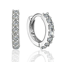 Pendientes de aro pequeños con joyería de moda de circón Regalo de compromiso para mujeres envío gratis de buena calidad YD0172