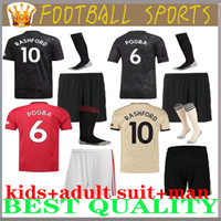 enfants enfants costume adulte 19 20 Manchester United Soccer Jersey Kit JAMES MATA Pogba Lukaku FRED Rashford chemise Matic kit enfants 2019 2020 chemise