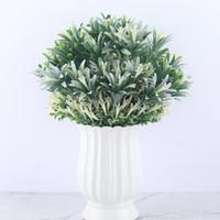 미니 인공 꽃 플라스틱 백합 물 식물 가짜 잎 낱단 꽃 Waterweed 녹색 정원 장식 꽃다발을위한 집