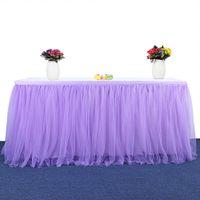 183 × 77 سنتيمتر حفل زفاف توتو تول الجدول تنورة المائدة القماش الطفل استحمام حزب المنزل الديكور الجدول تخلص من حفلة عيد