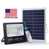 미국 + 태양 투광 10W 40W 60W 100W 야외 홍수 조명 IP65 홍수 스포트 라이트 태양열 전원 홍수 빛 야외 벽