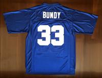 Доставка из США Al Bundy # 33 Polk High Женаты с детьми Мужчины кино футбол Джерси все сшиты Синий S-3XL высокого качества