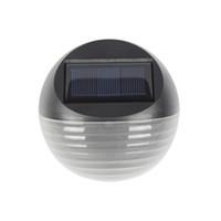 4шт / Lot солнечной энергии стены сада Датчик света Энергосберегающие лампы светодиодные Открытый Сад Забор сообщение лампы Night Light