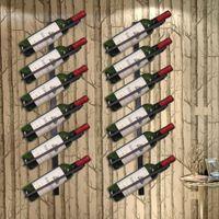 Yüksek Kalite Demir Duvar Organizatör Raf dur Şarap Tutucu Avrupa tarzı Şaraplık Şişe Ekran Monteli