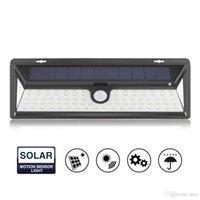 LED 태양 광 램프 PIR 모션 센서 벽 빛 방수 에너지 절약 거리 마당 경로 정원 보안 램프 야외 54/66/90 LED가