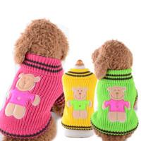 Maglioni per cani di cane a strisce blu scuro inverno morbido cane caldo maglioni per vestiti cane vestiti costumi maglieria