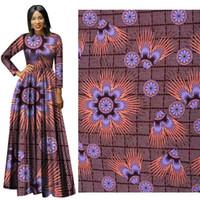 Nuovo arrivo 100% poliestere cera stampe tessuto Ankara Binta vera cera reale di alta qualità 6 yards / lot tessuto africano per abito da festa