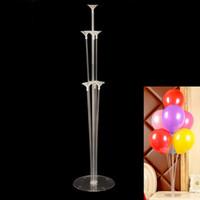 1 столбец набора шаров, подставка пластиковый баллон с 7 трубок украшение день рождения День святого Валентина Свадебный декор челнока