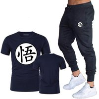 Letter Print Solid Color Sport Style Homme Clothing Crew Neck Short Sleeve Long Pants Apparel Mens Summer 2Pcs Designer Tracksuits Wu